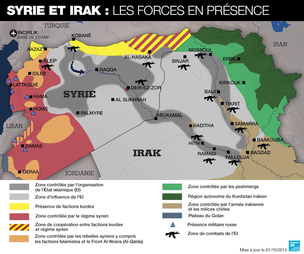 L'expansion de l'État islamique en Irak et en Syrie depuis 2014 fragilise des pays déjà ébranlés par l'occupation étrangère et la guerre civile © France24