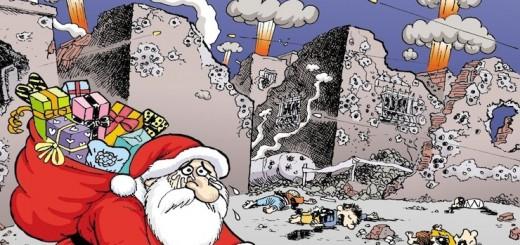 """Couverture de l'hebdomadaire satirique LeMan du 30/12/2015 """"44 enfants tués... Une nouvelle année dans ces conditions n'est pas possible..."""""""
