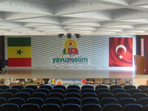 La salle de réception de l'école Yavuz Selim, Sénégal, 2013